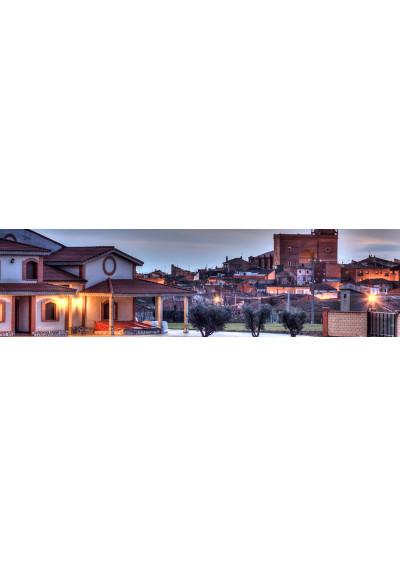Weingut mit Blick auf Aldeanueva, Rioja