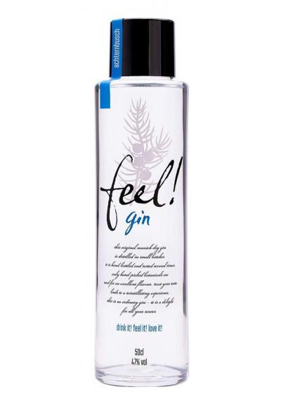 Feel! Munich Dry Gin. Formschöne 500 ml Flasche